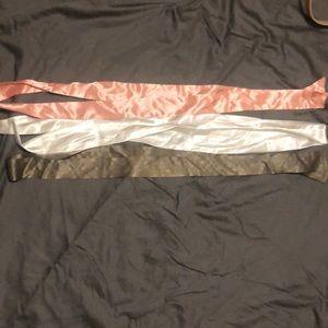 Silky tie belts